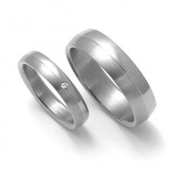 Titanové snubní prsteny STT0400