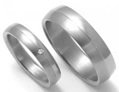 Titanové snubní prsteny STT0400 - pár
