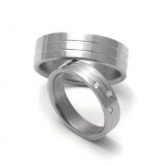 Titanové snubní prsteny STT0500 - pár