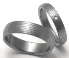 Titanové snubní prsteny STT0600 - pár