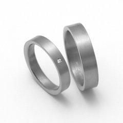 Titanové snubní prsteny STT0700 - pár