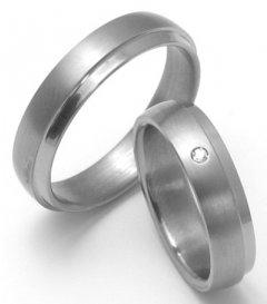 Titanové snubní prsteny STT0800 - pár