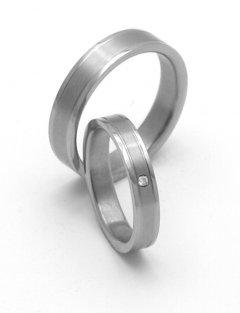 Titanové snubní prsteny STT0900 - pár