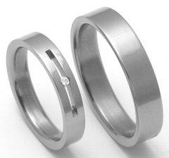 Titanové snubní prsteny STT1100 - pár