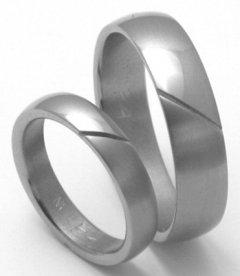 Titanové snubní prsteny STT1200 - pár