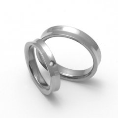 Titanové snubní prsteny STT1400 - pár