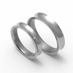 Titanové snubní prsteny STT1500