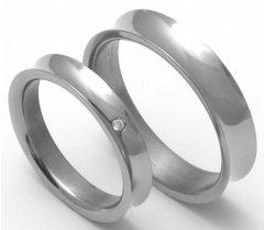 Titanové snubní prsteny STT1500 - pár