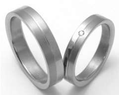 Titanové snubní prsteny STT1800 - pár
