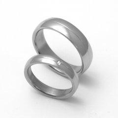 Titanové snubní prsteny STT1900 - pár