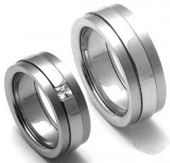 Titanové snubní prsteny STT2200 - pár