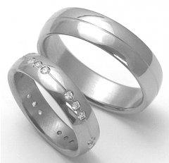Titanové snubní prsteny STT2600 - pár