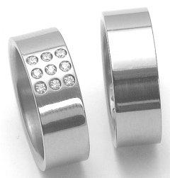 Titanové snubní prsteny STT2700 - pár