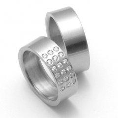 Titanové snubní prsteny STT2800 - pár