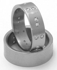 Titanové snubní prsteny STT2900 - pár