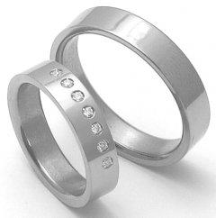 Snubní prsteny z titanu STT3000 - pár