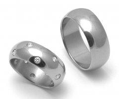 Titanové snubní prsteny STT4400 - pár