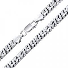 Stříbrný náhrdelník DIESEL 6 mm/60 cm rhodiovaný