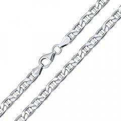 Stříbrný náhrdelník marine 5 mm/60 cm rhodiovaný