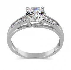 Stříbrný prsten Exclusive se Swarovski zirconia
