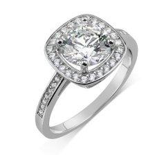 Stříbrný prsten Swarovski Zirconia čtvercový