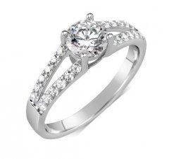 Decentní stříbrný prsten Swarovski Zirconia