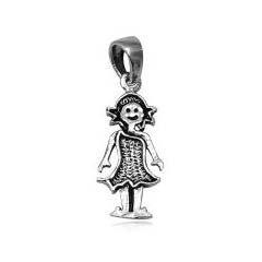 Stříbrný přívěsek - panenka