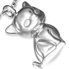 Ocelový přívěsek - kočka
