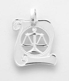 Stříbrný přívěsek znamení Váhy - pergamen