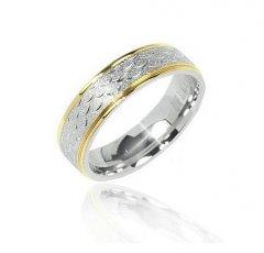 Ocelový snubní prsten XRG455L