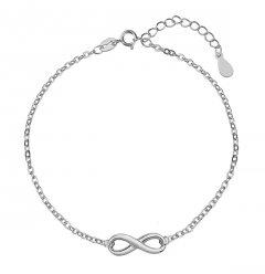 Stříbrný náramek Infinity 16 mm