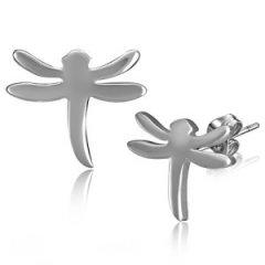 Ocelové náušnice - vážky