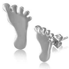 Ocelové náušnice - stopy