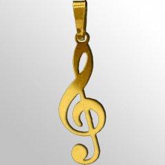 Zlatý přívěsek - Houslový klíč