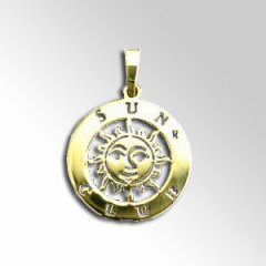 Zlatý přívěsek - Sun club