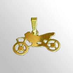 Zlatý přívěsek - Motorka