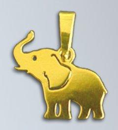 Zlatý přívěsek - Slon 15 mm