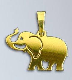 Zlatý přívěsek - Slon 16 mm