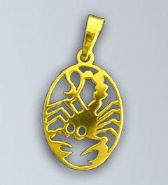 Zlatý přívěsek - znamení Štír v oválu