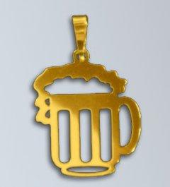 Zlatý přívěsek Pivo