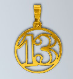 Zlatý přívěsek číslo 13 - Třináctka