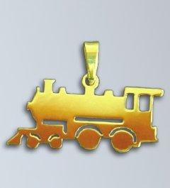 Zlatý přívěsek - Lokomotiva velká