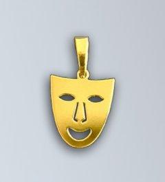 Zlatý přívěsek Veselá maska