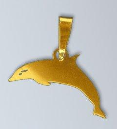 Zlatý přívěsek Delfín