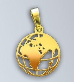Zlatý přívěsek - Zeměkoule 1
