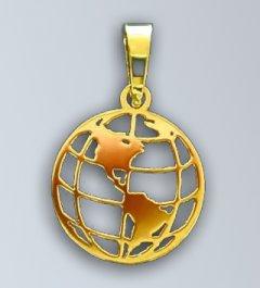 Zlatý přívěsek - Zeměkoule 2