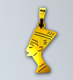 Zlatý přívěsek - Nefertiti