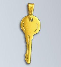 Zlatý přívěsek - Klíč patentní