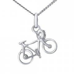 Stříbrný náhrdelník silniční kolo