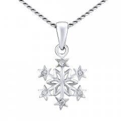 Stříbrný náhrdelník sněhová vločka